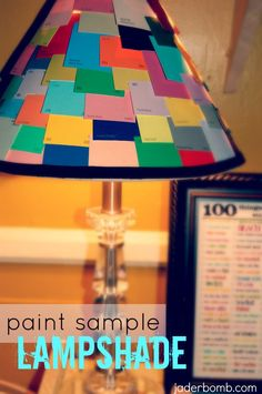 paint sample lampshade
