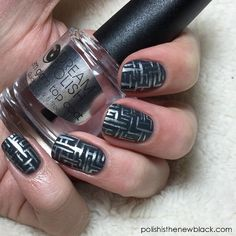 Maze Runner inspired nails for The Polished Bookworms February