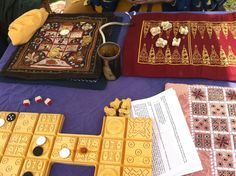 Medieval game boards - I would like to embroider a game board and make the pieces & bag to go with it.