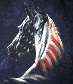 Free: Flag Horse Quilt Pattern - Other Craft Items Pretty Horses, Horse Love, Beautiful Horses, Blue Horse, Beautiful Birds, Beautiful Things, I Love America, God Bless America, Patriotic Pictures