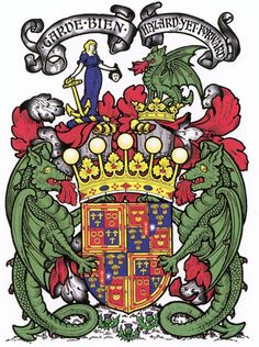 The Earl of Eglinton and Winton's Coat of Arms.  If you know heraldry, by looking at this one picture, you would be able to identify exactly who the man is that owns them. (i.e. The fleur de lys on the actual shield stand for Montgomerie; the rings for Eglinton; the crescents for Seton; the Coronet (crown) indicates he is an Earl.  The crests atop say he is a chief.)