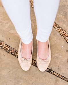 Classic Nude Chanel Ballet Flats styled by Erica Aulds of Erie Nick