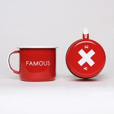 Famous Red Enamel Steel Cups