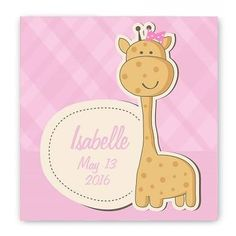 NEW Baby Nursery Canvas Sign  Availability: Usually Ships in 6-8 Business Day  Our Personalized Baby Nursery Canvas Signs are made on a stretched canvas with adorable images of your child's favorite animals. They are professionally monogrammed to provide a beautiful piece of decor for their room.  Available in 5 Designs: 1 - Baby Girl Giraffe 2 - Baby Boy Giraffe 3 - Boat 4 - Birdies 5 - Cow