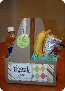 this was suggested as a teacher gift but it would be a nice way to present boxed lunches for a picnic or party