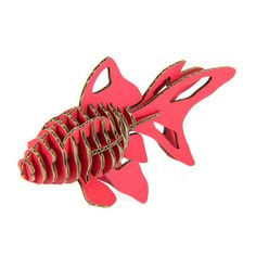 Fish Red, $20, now featured on Fab. These guys make all kinds of animals! It'd be cool to hang a bunch of these in a bathroom or sea- themed room from the ceiling.
