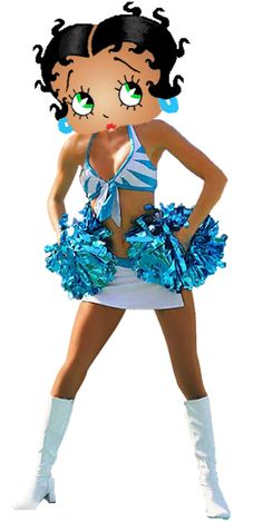 Betty Boop Cheerleader | Betty Boop Panthers Cheerleader photo BettyBoopPanthersCheerleader.png