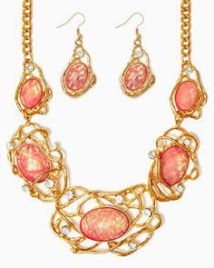 charming charlie | Cast Opal Necklace Set | UPC: 410006640634 #charmingcharlie