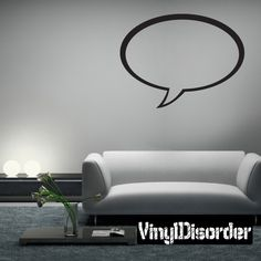 Conversation Bubble Wall Decal - Vinyl Decal - Car Decal - Mv001
