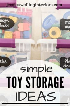 Toy Storage Ideas: How We Tamed the Playroom Chaos Is your playroom exploding? Mine was too, until I set up toy storage systems that work! These are perfect organization hacks for living rooms, kids' bedrooms, and small spaces too! Chalkboard Stickers, Chalkboard Labels, Storage Systems, Toy Storage, Storage Ideas, Playroom Storage, Kids Storage, Storage Solutions, Kids Room Organization