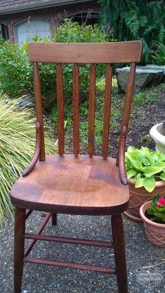 Reviving an Antique Chair with Danish Oil - Clockwork Interiors Furniture Repair, Furniture Makeover, Diy Furniture, Farmhouse Chairs, Antique Farmhouse, Antique Chairs, Vintage Chairs, Dining Room Inspiration, Danish