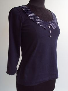 'So, Zo...': Refashion Friday Tutorial/How-To: Draft a Collar for a T-shirt Refashion/Remake