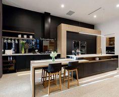 design, kitchen, winner, the block Kitchen Bar Design, Kitchen Layout, Kitchen Colors, New Kitchen, Kitchen Ideas, Kitchen Tips, Black Kitchens, Home Kitchens, The Block 2016
