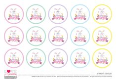 Free Baby Shower Printables, Easter Printables, Party Printables, Free Printables, Easter Crafts, Easter Ideas, Easter Party, Egg Hunt, Easter Eggs