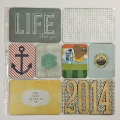 Mrs Crafty Adams: Project Life 2014 - Done! project life title and end pages