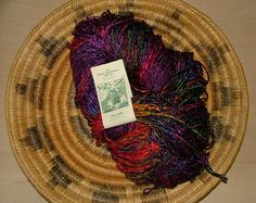 One skein of The Great Adirondack Yarn Company Patti Subik Made in USA Cancun Sea Breeze Crochet  Knit by 3CsTwistedStitchers on Etsy