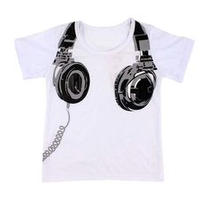 Fashion Boy Kids Summer Clothing Casual 3D Headphone Short Sleeve Tops Blouses T Shirt Tees Clothes