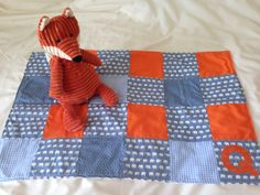Patchwork fleece lined baby blanket a by RobinsBobbinsCrafts