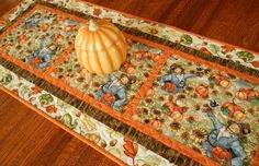 Fall Harvest Table Runner Quilted Table Runner by susiquilts
