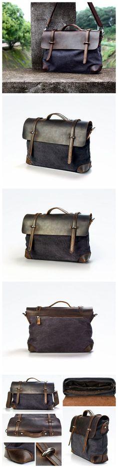 Canvas Messenger Bag / Shoulder Bag / Laptop Bag / Tote Bag