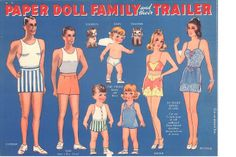 Paper Dolls~Paper Doll Family And Their Trailer - Bonnie Jones - Picasa Web Albums