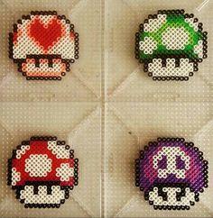 Shrooms hama beads mario