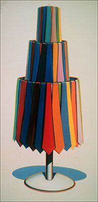 Wayne Thiebaud,  Tie Rack Fine Art Reproduction Oil Painting