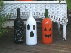 DIY Halloween Decorations | shouldn't be too hard to find a couple of empty wine bottles haha
