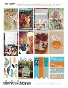FREE Hello Autumn Planner Printable by Victoria Thatcher