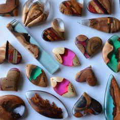 Wood and Resin # Pendants # Sell in the Forest Parade. - epoxy resin - Wood and Resin # Pendants # Sell in the Forest Parade. Epoxy Resin Table, Epoxy Resin Art, Diy Resin Art, Diy Resin Crafts, Diy Jewelry To Sell, Resin Pendant, Pendant Necklace, Creations, Wood And Resin Jewelry