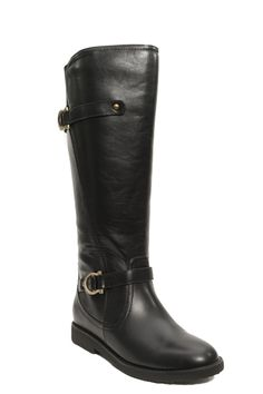 """The fabulous Cassie Women's Extra Wide Calf knee high riding boots have a low 1"""" heel and approx. 15"""" high wide shaft with very generous elastic gore at the back and generous ankles.  Available in Extra Wide Calf in Black, Brown and Tan!"""