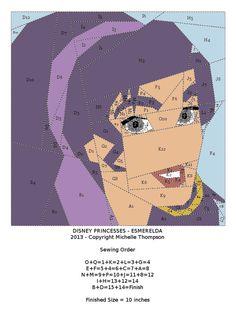 Disney Princess Quilt - Esmerelda pattern
