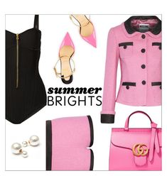 """Summer Brights"" by danielle-487 ❤ liked on Polyvore featuring Moschino, Balmain, Christian Louboutin, Gucci and summerbrights"