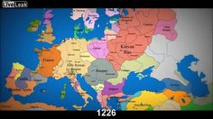 Watch as 1000 years of European borders change in 3 minutes! So cool.