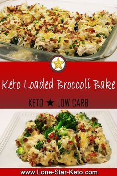 Rich and decadent comfort food full of cheesy goodness. This Keto Loaded Broccoli Bake may even get the pickiest of veggie eaters to give it a go. Honey Recipes, Keto Recipes, Cooking Recipes, Healthy Recipes, Ketogenic Recipes, Ketogenic Diet, Keto Broccoli Recipe, Broccoli Bake, Keto Side Dishes