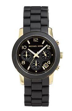 Michael Kors 'Black Catwalk' Chronograph Watch | Nordstrom - love love love