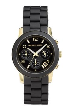 Michael Kors 'Black Catwalk' Chronograph Watch available at #Nordstrom