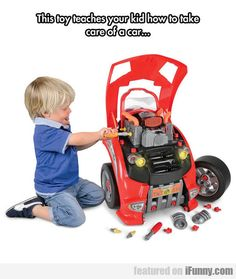 Toy Teaches Your Kid How To Take Care Of A Car - http://www.funnyclone.com/toy-teaches-your-kid-how-to-take-care-of-a-car/