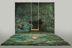 Natureza tecida à mão. Designer argentina cria paisagens incríveis com lã http://decdesignecasa.blogspot.it