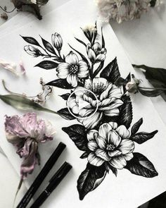 I love tattoos but I don't have any. I plan on getting one in the future, specifically flowers to represent my mom and grandmother. thigh tattoo 55 Sleeve Tattoos That Will Instantly Make You Jealous Tattoos Arm Mann, Body Art Tattoos, Stomach Tattoos, Tatoos, Belly Tattoos, Trendy Tattoos, Tattoos For Women, Feminine Tattoos, Tattoo Avant Bras
