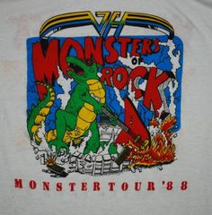 Metallica 1988 Shirt   VINTAGE METALLICA MONSTERS OF ROCK 1988 TOUR T-SHIRT *