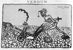 """L. Laforge, 'Verdun', in 'Les Hommes du jour' (Frankrijk, 27 mei 1916). Onderschrift luidt: """"Le Kronprinz au labour"""". Vertaling: 'De kroonprins aan het werk'."""