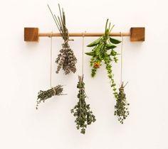Wood Kitchen Herb Drying Rack