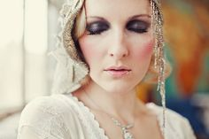 1920s inspired bridal cap.  Image from the 1920s Chapter of 'Style Me Vintage: Weddings'.