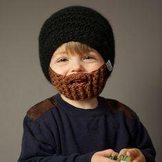 børnehue med skæg