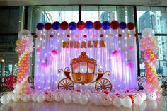 Best value balloon and crafts decor - birthday medium theme decorations in Hyderabad Princess Birthday Party Decorations, Backyard Birthday Parties, Birthday Party Planner, Colorful Birthday Party, Birthday Balloon Decorations, Girl Birthday Themes, Birthday Balloons, Umbrella Decorations, Baby Birthday