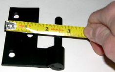 measuring hinge offset on exterior butt hinges