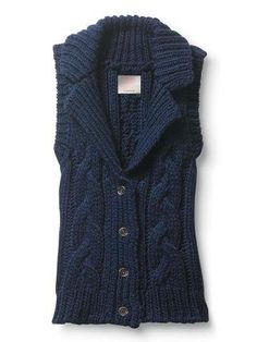 Quiksilver Women's Cozy Cable Vest Sleeveless Sweater Navy Blue G05015-INK $49.99