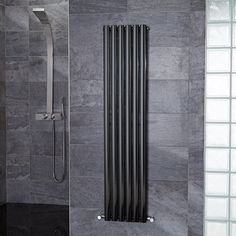 Nevada Beta Heat 1600 x 360 Single Panel Black Radiator - Black And White Bathroom Ideas - Black Radiator - Better Bathrooms Black Radiators, Vertical Radiators, Black White Bathrooms, Designer Radiator, Heated Towel Rail, Amazing Bathrooms, Nevada, Home Appliances, Black And White