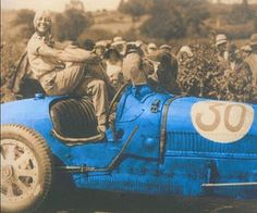 Helen Nice, Bugatti Queen. In 1929, driving an Omega-Six, she won an all-female Grand Prix race at Autodrome de Montlhéry in the process setting a new world land speed record for women. Capitalizing on her fame, the following year she toured the United States, racing at a variety of tracks in an American-made Miller racing car. I'm not sure if this is the right picture to match to this text, but it is so cool I couldn't pass it up. Sassay!
